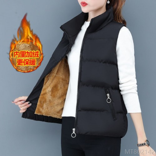2020 new down cotton vest women autumn and winter fashion winter Korean version loose plus velvet