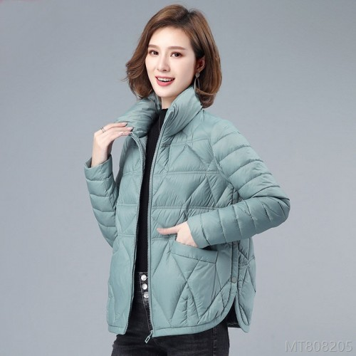 2020 new and new fashion down cotton jacket women's light and short leisure
