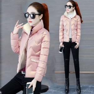2020 new new bright face down padded jacket women winter short