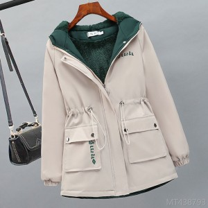 2020 new plus velvet padded jacket women spring and autumn fashion Korean style all-match casual