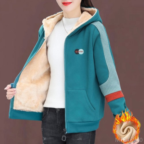 2020 new [lamb cashmere lining] plus cashmere cardigan jacket women