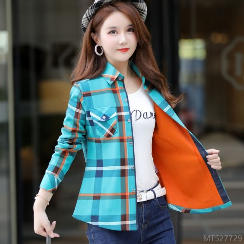 2020 new Korean stretch slim long-sleeved warm and velvet padded jacket