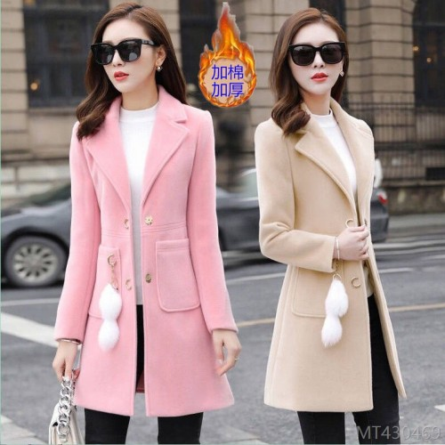 2020 new woolen women's mid-length Korean version autumn and winter