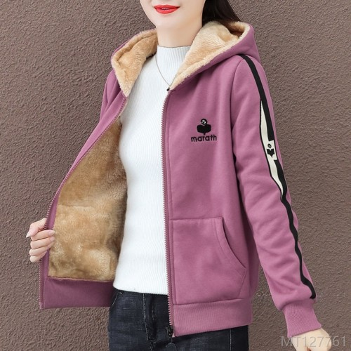 2020 new short coat women's autumn and winter fashion loose zipper cardigan