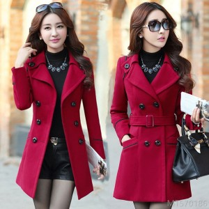 2020 new mid-length Korean fashion autumn and winter slim slim woolen coat