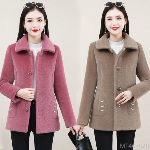 2020 new imitation mink velvet short coat for women's autumn and winter fashion