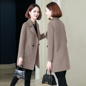 2020 new [with cotton/no cotton] woolen coat looks thin