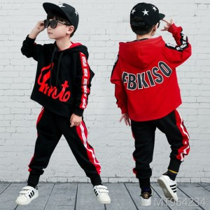 2018 new Korean children's loose sweater two-piece autumn children's wear