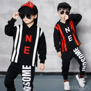 2018 new spring and autumn children's tide sports long-sleeved pants two-piece