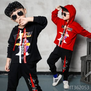 2018 spring and autumn new Korean children's two-piece large children
