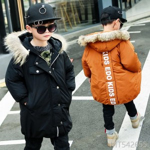 2018 new big boy down jacket cotton long children keep warm