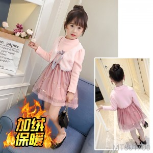 2018 autumn and winter girls thick stitching princess dress baby skirt