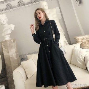 2018 new lulu port wind jacket female autumn and winter dress chic spring and autumn