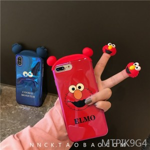 Cartoon couple apple x mobile phone case iPhone8 soft shell 7plus Blu-ray 6s female models xs max/XR趴趴