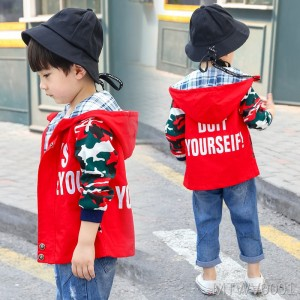 2018 new spring and autumn models Korean version of the tide small children's clothing windbreaker baby autumn