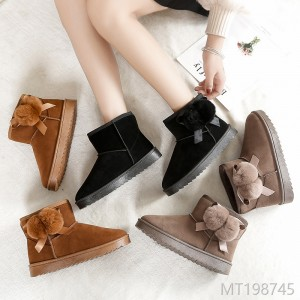 2018 winter new winter shoes, warm and plush, snow boots.