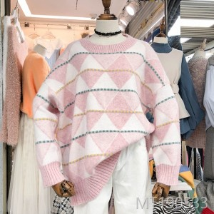 2018 Korea ulzzang autumn winter wear new sweet and lovely round neck