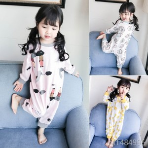 2018 long sleeved cotton baby sleeping bag 1-3