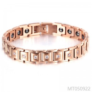 2018ol concise rose gold bracelet titanium steel inlaid AAA zircon jewelry