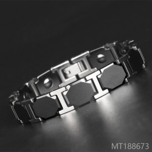2018 men titanium steel six side ceramic bracelet