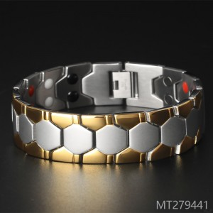 2018 gold health magnet anti radiation Bracelet wide