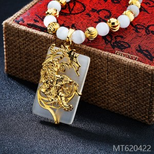 2018 gold plated tiger cat eye Necklace