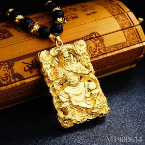 2018 men's domineering sand Gold Pendant Necklace
