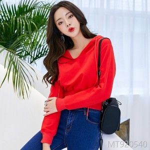 2018 women's wear sweater female autumn Korean version of fashion pure color short