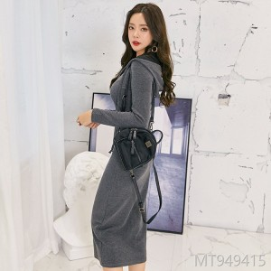 2018 new style autumn dress female Korean fashion female hooded long skirt long sleeves