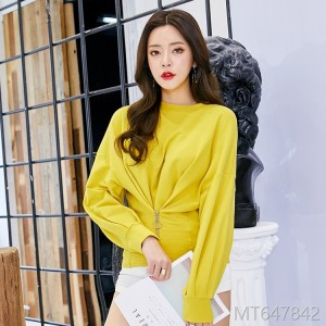 2018 autumn new women's wear Korean fashion zipper
