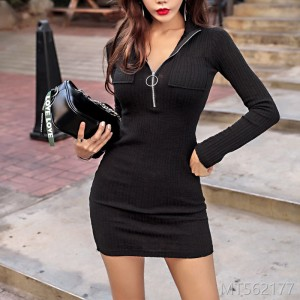 2018 autumn dress new style women's wear Korean version long sleeved dress female