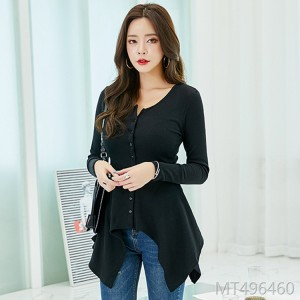 2018 autumn dress T-shirt, sexy long sleeved primer.