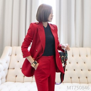 2008 new Korean version of Mingyuan's temperament, self-cultivation, double-breasted suit jacket, fashionable women's trousers professional suit