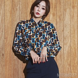 2008 autumn dress new Korean version temperament women's fashion color printed professional shirt jacket