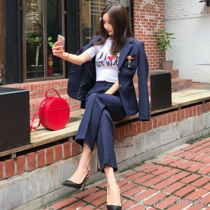2008 Autumn Clothes New Korean Edition Temperament Slim Suit Outerwear Fashion Received Girls Trousers Professional Suit