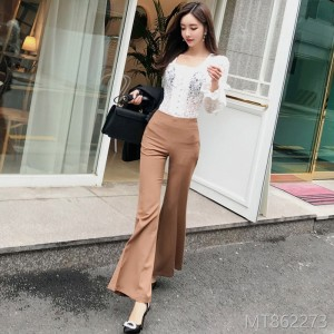 Fall and Winter 2018 New Korean Edition Style Hollow-out Lace Blouse Fashionable Slim Pants Suit