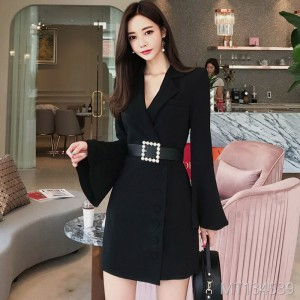 Fall and Winter 2018 New Korean OL Temperament Sleeve Sleeve Fashion Dress Suit Coat