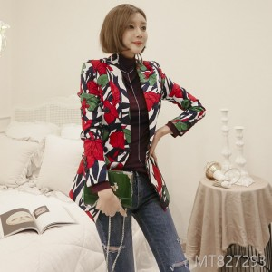 2008 Autumn Fashion New Women's Wear Korean OL Temperament Double-breasted Fashion Small Suit Printed Coat