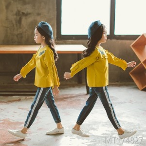 The new Korean version of the two-piece children's children's autumn outfit