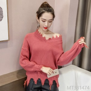 2008 irregular hollow loose Pullover Sweater fashionable female beggar dress