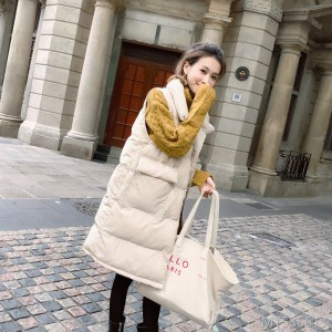 2008 New Korean Down Cotton-padded Mid-long Winter vest