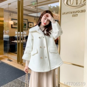 Korean version woolen overcoat for women in autumn and winter