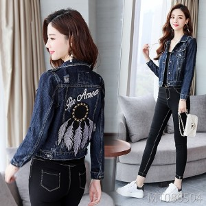 Hong Kong Wind Jeans Jacket Female Korean Edition Short