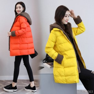 Thickened Long-sleeved Slim Cotton Clothes in Winter of 2019