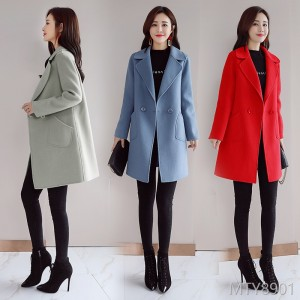 Long-sleeved suit woolen jacket for winter 2018