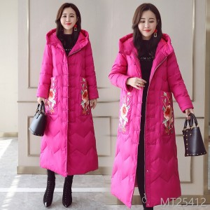 Comfortable zipper long sleeve mid-long pocket jacket for winter 2019