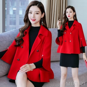 The Autumn Trend of 2019: Simple Pure Long-sleeved Wool Jacket