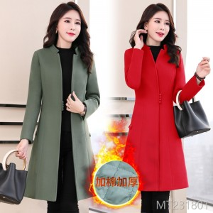 Fashion splicing of woolen coats in winter of 2019