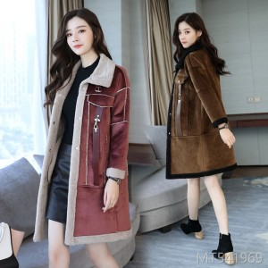 The Simple Temperament of Long Sleeve Medium and Long Style of Wool Jacket in 2019