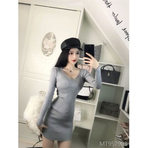 2009 New Women's Knitted Dresses Sexy Bottom-tight Bottom Skirt in Autumn and Winter